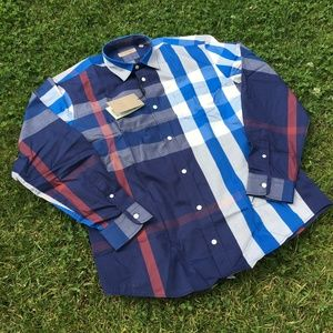 BURBERRY LONDON ENGLAND NEW DESIGN SHIRT %100 CTN